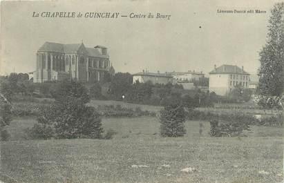 """CPA FRANCE 71 """" La Chapelle de Guinchay, Centre du bourg""""."""