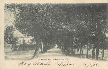 "CPA FRANCE 71 "" Le Château, Boulevard Thiers""."