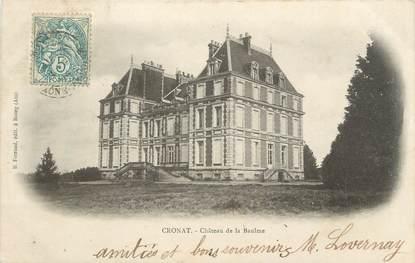 """CPA FRANCE 71 """"Cronat, Le château de la Baulme""""."""