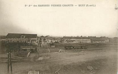 """CPA FRANCE 71 """"Buxy, Sté des marbres pierrres granits""""."""
