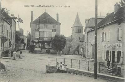 """CPA FRANCE 71 """"Dezize les Maranges, La place""""."""