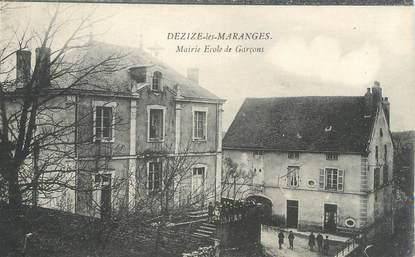 """CPA FRANCE 71 """"Dezize les Maranges, Mairie et école de garçons""""."""