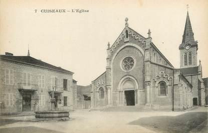 """CPA FRANCE 71 """"Cuiseaux, L'église""""."""