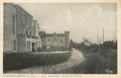 """CPA FRANCE 71 """"Charnay les Macon, Cave coopérative , quartier de la gare""""."""
