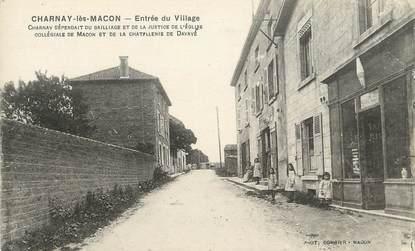 """CPA FRANCE 71 """"Charnay les Macon, Entrée du village""""."""