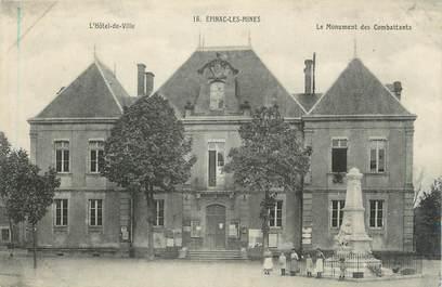 """CPA FRANCE 71 """"Epinac les Mines, L'Hôtel de Ville, le monument aux morts""""."""