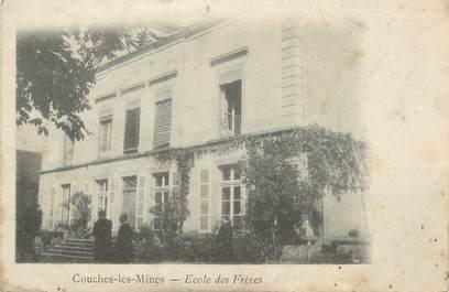 """CPA FRANCE 71 """" Couches les Mines, Ecole des frères""""."""