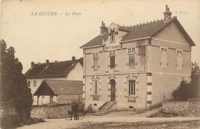 """CPA FRANCE 71 """" La Guiche, La Poste""""."""