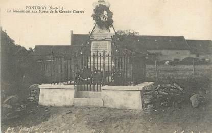 "CPA FRANCE 71 "" Fontenay, Le monument aux morts""."