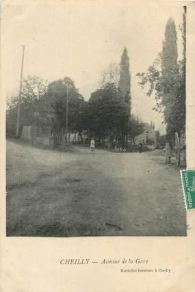 """CPA FRANCE 71 """" Cheilly, Avenue de la gare""""."""