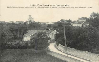 """CPA FRANCE 71 """" Flacé les Macon, Les coteaux et les vignes""""."""