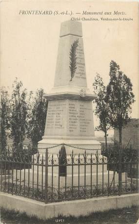 """CPA FRANCE 71 """" Frontenard, Le monument aux morts""""."""