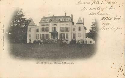 """CPA FRANCE 71 """" Chardonnay, Le château de Montlaville""""."""