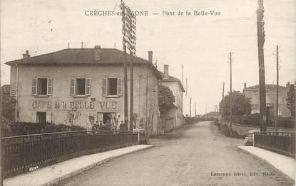"""CPA FRANCE 71 """" Crèches sur Saone, Pont de la Belle Vue""""."""