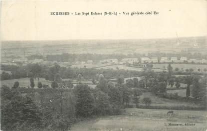 """CPA FRANCE 71 """" Ecuisses, Les sept écluses, Vue générale""""."""