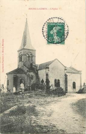 """CPA FRANCE 71 """" Bourg le Comte, L'église""""."""