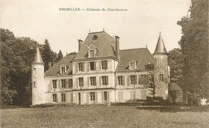 """CPA FRANCE 71 """" Bruailles, Château de Chardenoux""""."""
