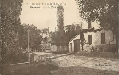 """CPA FRANCE 71 """" Branges, Avenue du Moulin""""."""