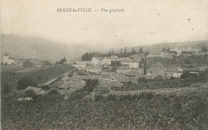 """CPA FRANCE 71 """" Berzé la Ville, Vue générale""""."""