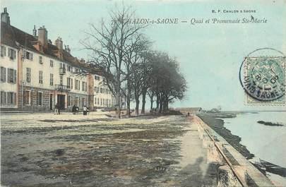 "CPA FRANCE 71 "" Chalon sur Saône, Quai et promenade Ste Marie""."