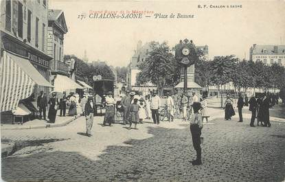 """CPA FRANCE 71 """" Chalon sur Saône, Place de Beaune""""."""