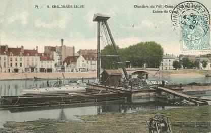 """CPA FRANCE 71 """" Chalon sur Saône,Chantiers du Petit Creusot""""."""