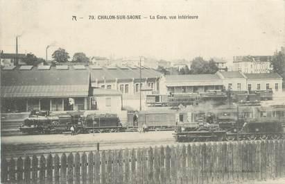 """CPA FRANCE 71 """" Chalon sur Saône, La gare """". / TRAINS"""