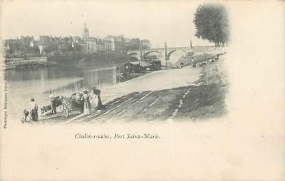"CPA FRANCE 71 "" Chalon sur Saône, Port Ste Marie""."