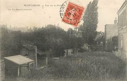"""CPA  FRANCE 45 """"Montargis, vue sur le Puiseaux"""""""