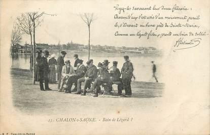 "CPA FRANCE 71 "" Chalon sur Saône, Bain de Lézard""."