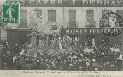 """CPA PHOTO FRANCE 71 """" Chalon sur Saône, Le carnaval de 1914, l'oiseau bleu """"."""