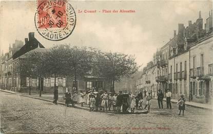 """CPA FRANCE 71 """" Le Creusot, Place des Alouettes""""."""