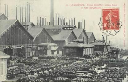 "CPA FRANCE 71 "" Le Creusot, Usine Schneider, Grande forge et parc aux cylindres""."