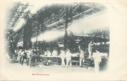 "CPA FRANCE 71 "" Le Creusot, Hall de laminage""."