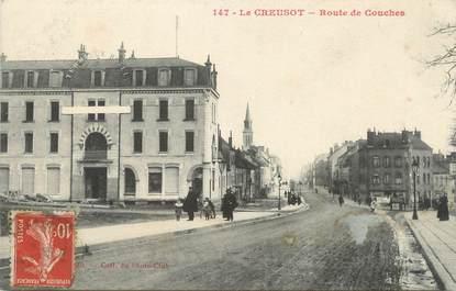 """CPA FRANCE 71 """" Le Creusot, Route de Couches""""."""