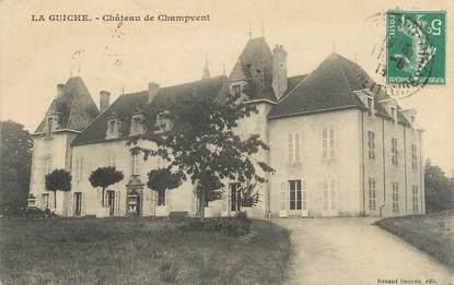 """CPA FRANCE 71 """"La Guiche, Château de Champvent""""."""