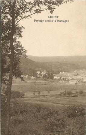 """CPA FRANCE 71 """"Lugny, Paysage depuis la montagne""""."""