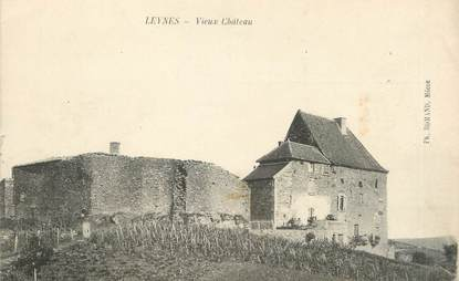 "CPA FRANCE 71 ""Leynes, Vieux château""."