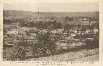 """CPA FRANCE 71 """"La Garenne d'Epinac les Mines, Vue générale sur le Curier et la direction des Houillères""""."""