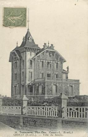 "CPA FRANCE 71 ""Gronat, Villa du Sauzin""."