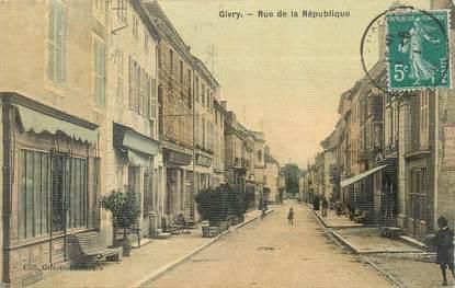 """CPA FRANCE 71 """"Givry, Rue de la République""""."""