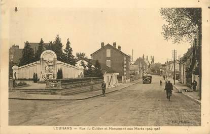 """CPA FRANCE 71 """"Louhans, Rue du Guidon et monument aux morts""""."""