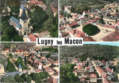 """CPSM FRANCE 71 """"Lucy les Macon, Vues""""."""