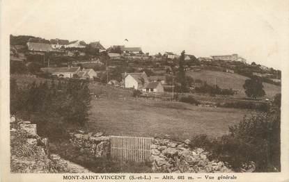 """CPA FRANCE 71 """"Mont St Vincent, Vue générale""""."""