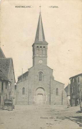 """CPA FRANCE 71 """"Montmelard, L'église""""."""