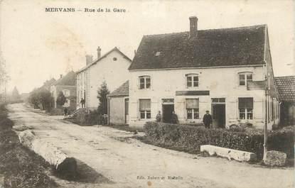 """CPA FRANCE 71 """"Mervans, Rue de la gare""""."""
