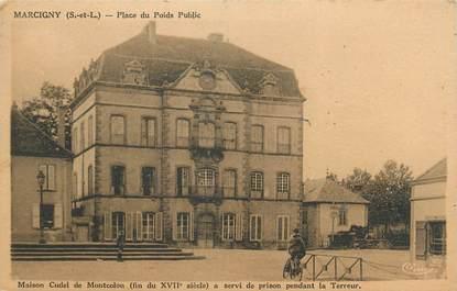 """CPA FRANCE 71 """"Marcigny, Place du Poids Public, Maison Cudel dde Montcolon'."""