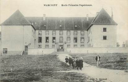"""CPA FRANCE 71 """"Marcigny, Ecole primaire supérieure""""."""