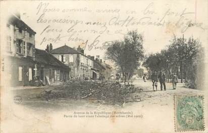"""CPA FRANCE 71 """"Montchanin , Avenue de la République""""."""
