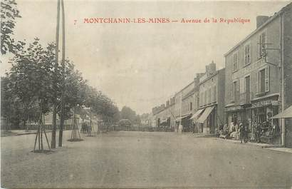"""CPA FRANCE 71 """"Montchanin les Mines, Avenue de la République""""."""